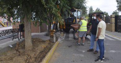 Comienza el PFEA 2019 en Brenes con las obras para la instalación de riego en Paseo de Córdoba y la proyección de las pistas de voley playa y de tenis